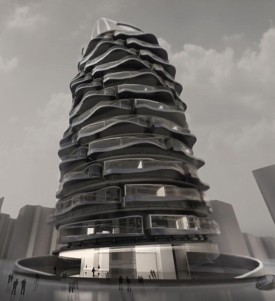 необычные здания спирали фото носить разные нательные