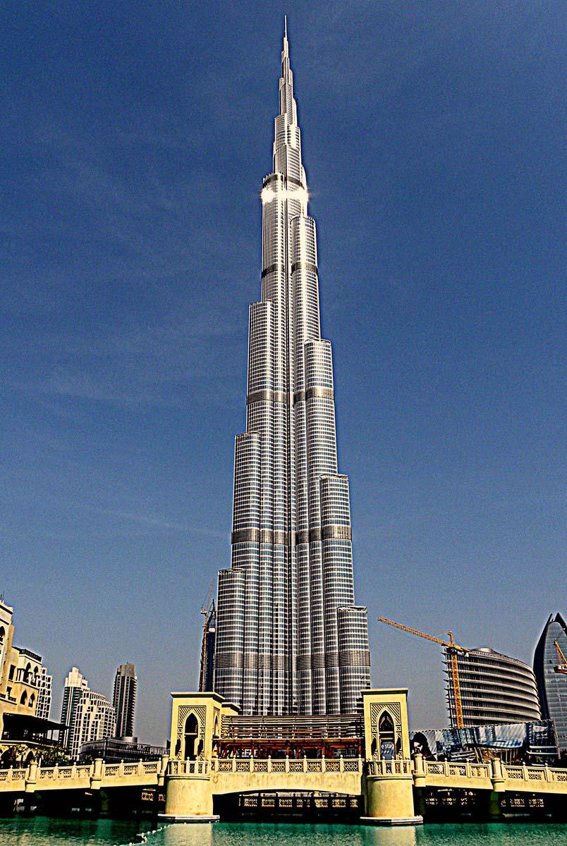 дубай башня бурдж халифа высота